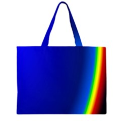 Blue Wallpaper With Rainbow Large Tote Bag