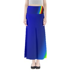 Blue Wallpaper With Rainbow Maxi Skirts
