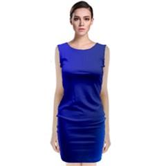 Blue Wallpaper With Rainbow Classic Sleeveless Midi Dress