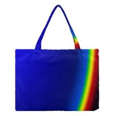 Blue Wallpaper With Rainbow Medium Tote Bag