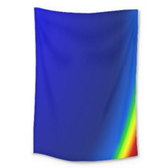 Blue Wallpaper With Rainbow Large Tapestry
