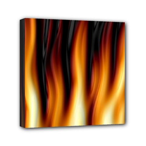 Dark Flame Pattern Mini Canvas 6  X 6