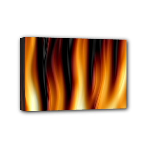 Dark Flame Pattern Mini Canvas 6  x 4