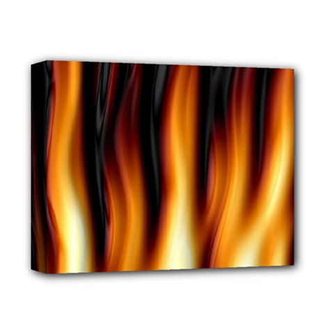 Dark Flame Pattern Deluxe Canvas 14  x 11