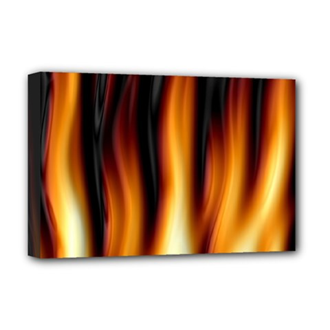 Dark Flame Pattern Deluxe Canvas 18  x 12