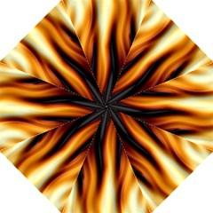 Dark Flame Pattern Golf Umbrellas