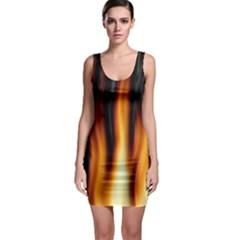 Dark Flame Pattern Sleeveless Bodycon Dress