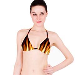 Dark Flame Pattern Bikini Top
