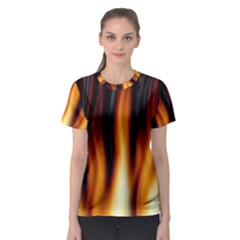 Dark Flame Pattern Women s Sport Mesh Tee