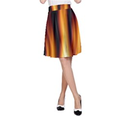 Dark Flame Pattern A Line Skirt