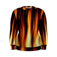 Dark Flame Pattern Women s Sweatshirt