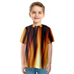 Dark Flame Pattern Kids  Sport Mesh Tee