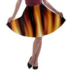Dark Flame Pattern A-line Skater Skirt