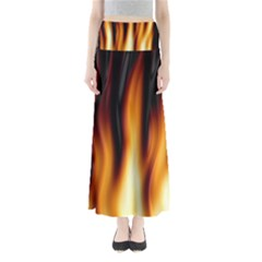 Dark Flame Pattern Maxi Skirts