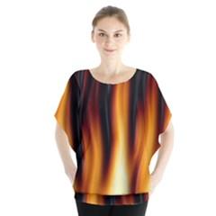 Dark Flame Pattern Blouse