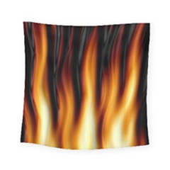 Dark Flame Pattern Square Tapestry (small)