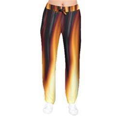 Dark Flame Pattern Drawstring Pants