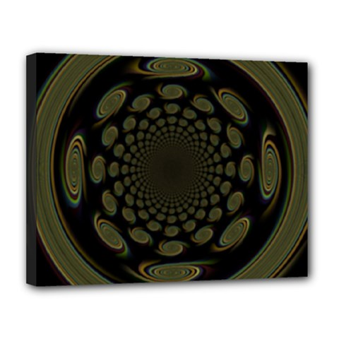 Dark Portal Fractal Esque Background Canvas 14  x 11
