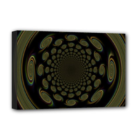 Dark Portal Fractal Esque Background Deluxe Canvas 18  x 12