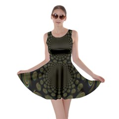 Dark Portal Fractal Esque Background Skater Dress
