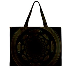 Dark Portal Fractal Esque Background Zipper Mini Tote Bag