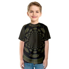 Dark Portal Fractal Esque Background Kids  Sport Mesh Tee