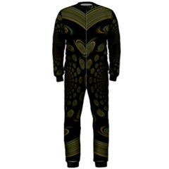 Dark Portal Fractal Esque Background OnePiece Jumpsuit (Men)