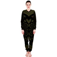 Dark Portal Fractal Esque Background OnePiece Jumpsuit (Ladies)