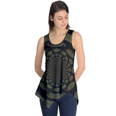Dark Portal Fractal Esque Background Sleeveless Tunic