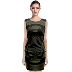 Dark Portal Fractal Esque Background Classic Sleeveless Midi Dress