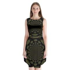 Dark Portal Fractal Esque Background Sleeveless Chiffon Dress