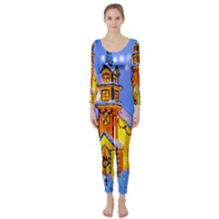 Winter Church Long Sleeve Catsuit