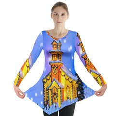 Winter Church Long Sleeve Tunic