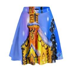 Winter Church High Waist Skirt