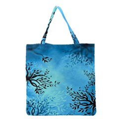 Blue Night Portrait Background Grocery Tote Bag