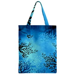 Blue Night Portrait Background Zipper Classic Tote Bag