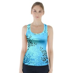 Blue Night Portrait Background Racer Back Sports Top