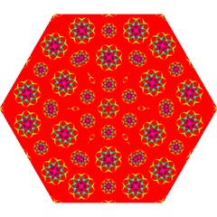 Rainbow Colors Geometric Circles Seamless Pattern On Red Background Mini Folding Umbrellas