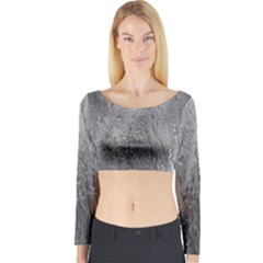 Water Drops Long Sleeve Crop Top