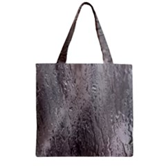 Water Drops Zipper Grocery Tote Bag