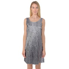 Water Drops Sleeveless Satin Nightdress
