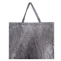 Water Drops Zipper Large Tote Bag