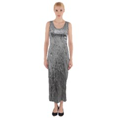 Water Drops Fitted Maxi Dress