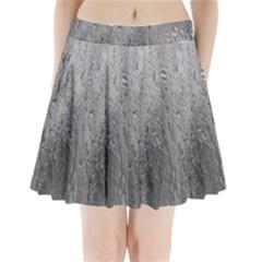 Water Drops Pleated Mini Skirt