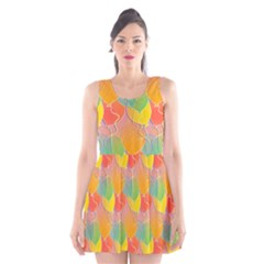 Birthday Balloons Scoop Neck Skater Dress
