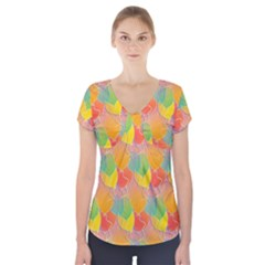 Birthday Balloons Short Sleeve Front Detail Top