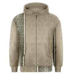 Abstract Background With Floral Orn Illustration Background With Swirls Men s Zipper Hoodie