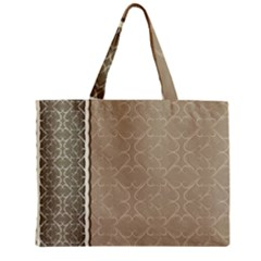 Abstract Background With Floral Orn Illustration Background With Swirls Zipper Mini Tote Bag