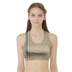 Abstract Background With Floral Orn Illustration Background With Swirls Sports Bra With Border