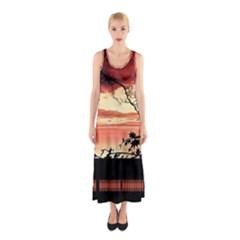 Autumn Song Autumn Spreading Its Wings All Around Sleeveless Maxi Dress